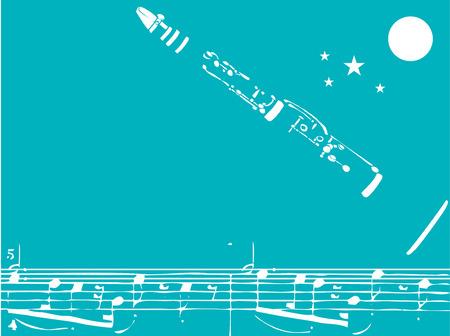 Jazz klarinet  Vector Illustratie