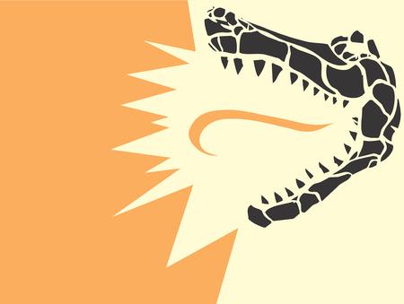 Alligator Head Illustration