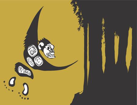 monkey on a tree: Single Monkey