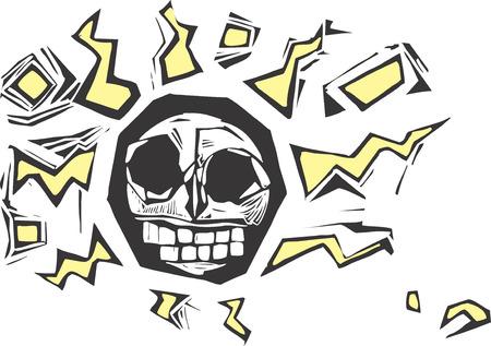 Electric Skull Stock Vector - 4792645