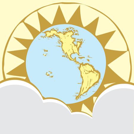 Compass Rose Earth #2 Иллюстрация
