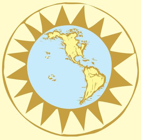 Compass Rose Earth #3 Ilustração