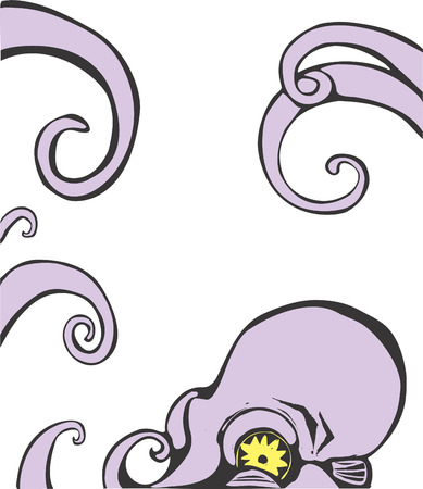 Viola polpo testa e le braccia. Archivio Fotografico - 4822595