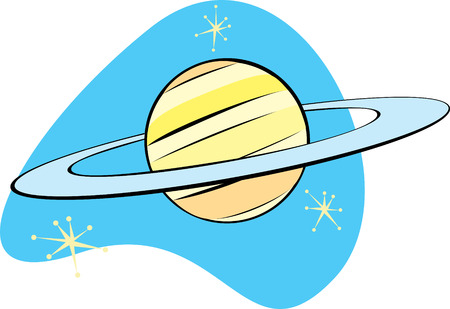 Retro Planet Saturn is part of a complete set of Solar System planet for download. Stock fotó - 4911950