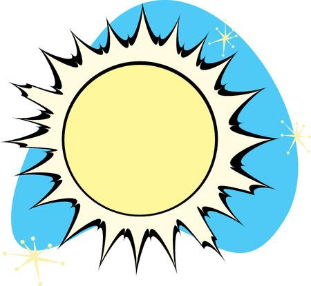 Retro Sun is part of a complete set of Solar System Planets for download. Illusztráció