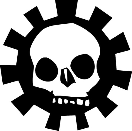 Skull in Mechanical Gear #3