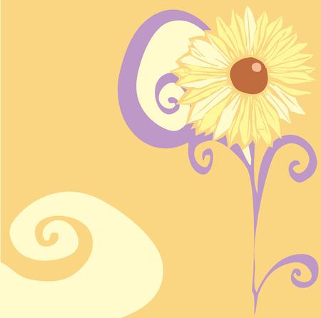 Sixties Psychedelic flower.  Çizim