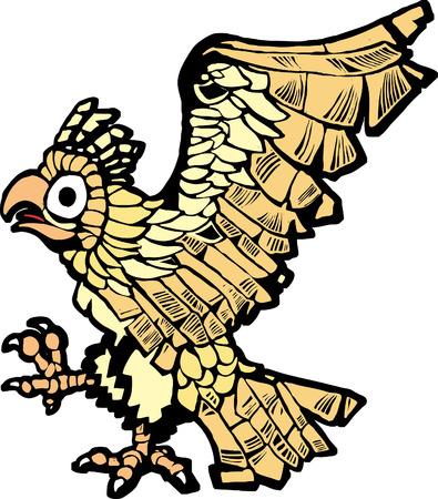 멕시코 시티의 창립을 상징하는 아즈텍 독수리. 일러스트