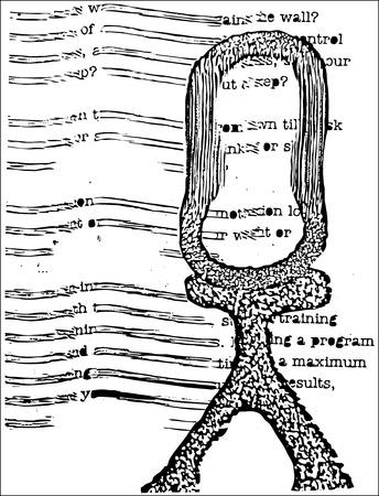 trippy: Figura ampliada de fuentes con psycheldelic desdibuja en las palabras y la forma.