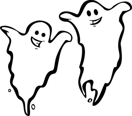 Een paar leuke Halloween Night Ghosts.