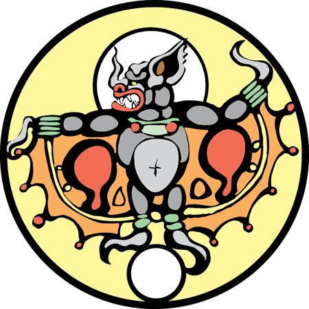 The 'taking bat' of Mayan Myth. The Mayan Camazotz.
