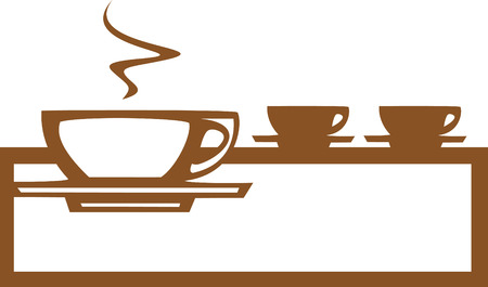 Basic coffee  espresso cup design good for posters or signs.  向量圖像