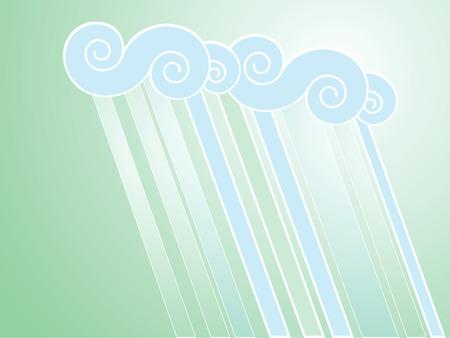 Softly colored desktop background with rain patterns. Ilustracja