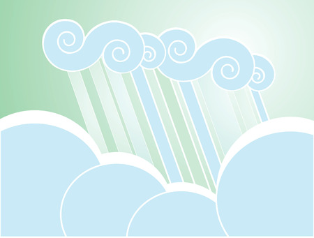 softly: Softly colored desktop background with clouds.