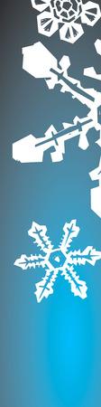 背の高いグラデーション 3 雪片。  イラスト・ベクター素材