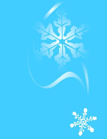 立ち下がり雪のカップルと青色の背景色。  イラスト・ベクター素材