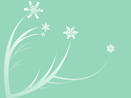 Flowers with snowflakes for winter blossoms.