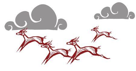 Gazelles running on an african plain. Фото со стока - 6835322