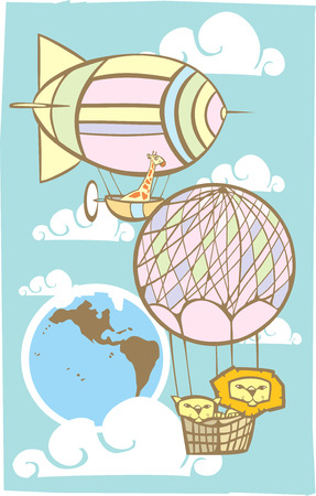 Animals in the Sky Çizim
