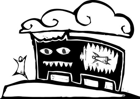 d�vorer: Personne relie un monstre qui a mang� son ami. Illustration