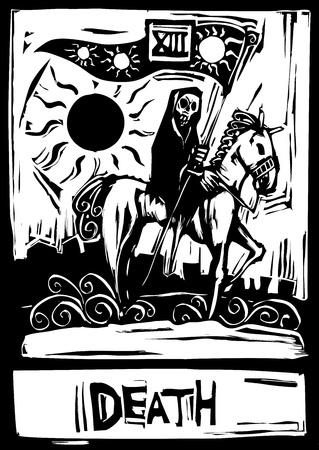 La carta dei tarocchi per tredici morte numero. Archivio Fotografico - 11367240