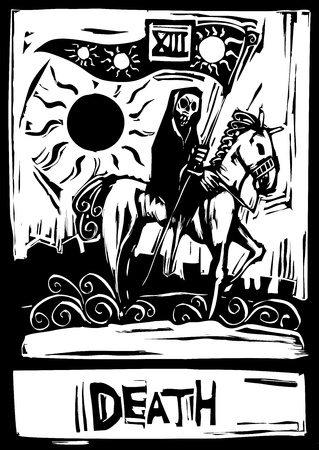 morte: The tarot card for death number thirteen.