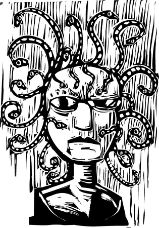 an image of the snake head medusa