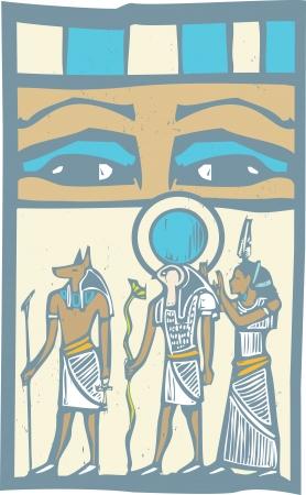 Anubis and Horus the Pharaoh