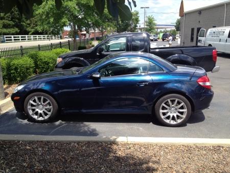mercedes: Beautiful blue 2012 Mercedes