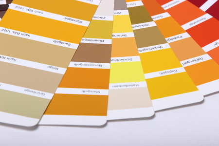 ral: collection of ral colours on white background