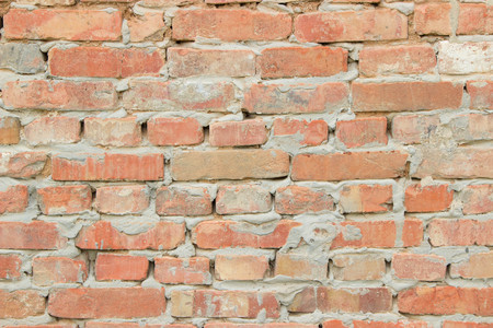 antik: texture of the old walls of bright red brick Stock Photo