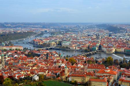 Panoramic view, Prague. Czech Republic. Autumn Stock fotó