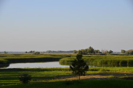 Russian nature, river.