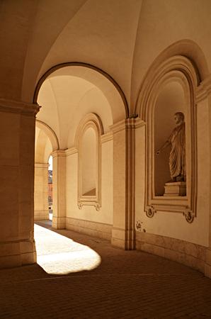 Church. Stone arches. Rome. Italy