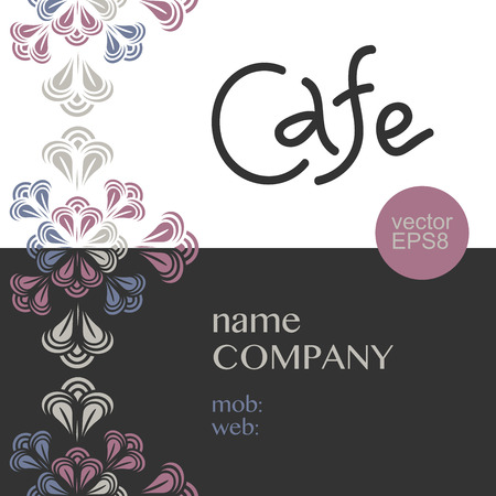 Cafe corporate style. Vector elements for design style