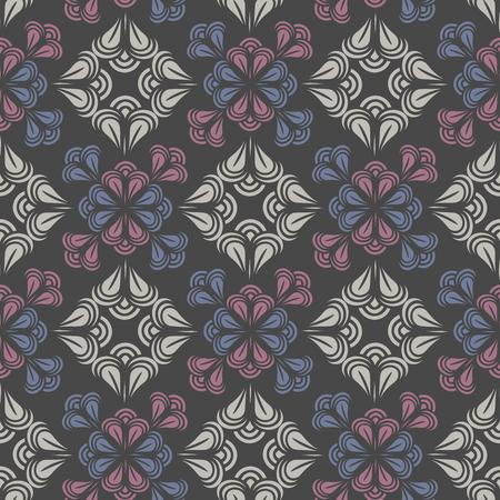 Seamless pattern. Floral stylish background