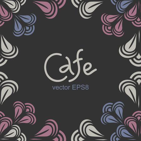 Seamless pattern. Cafe stylish background