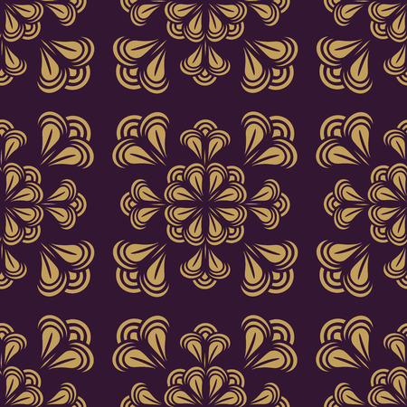 Seamless pattern. Floral stylish background. Illusztráció
