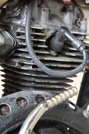 gill: motorcycle engine Stock Photo