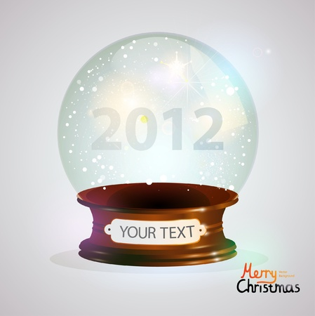 Crystal ball. New year vector background. Stock Vector - 11663686
