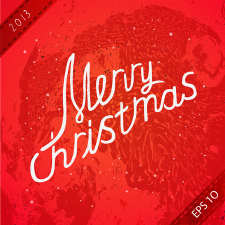 greating card: Christmas greating card. Vector lettering illustration. eps 10 Illustration