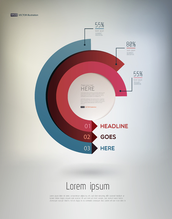 infographic: Modern, abstract infographics elements in a circle on light background. Vector illustration. eps10. Illustration