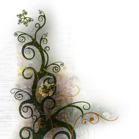 floral grunge design � Grigor Dolyan Stock Photo - 2988204