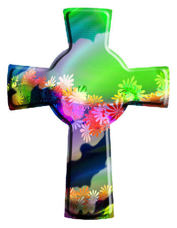 holy cross: christian cross Stock Photo