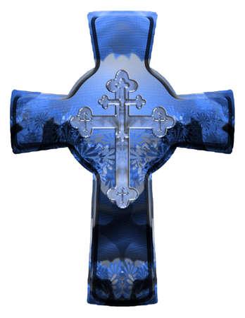 wooden cross: christian cross Stock Photo