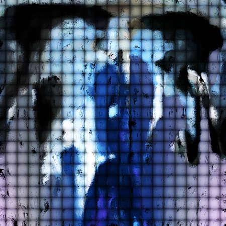 Abstracte Kunst - Tegels van het impressionisme Stockfoto