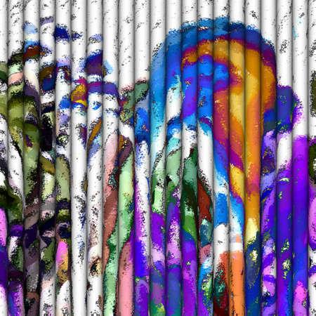 Abstracte Kunst - Rolls of Joy Stockfoto