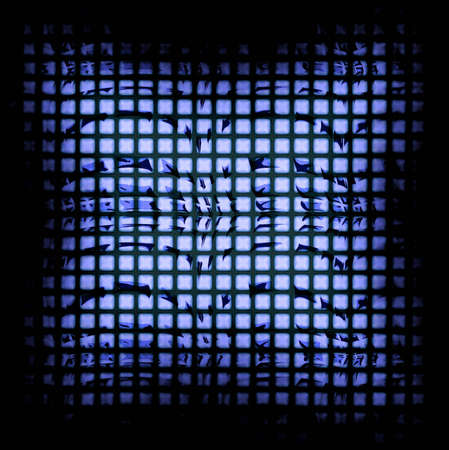 Vierkante Effecten Achtergrond binnen een zwart frame perfect voor een Business Advertentie of visitekaartjes