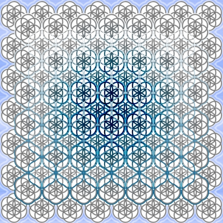 De Flower of Life Heilige Geometrie Kunst Achtergrond patroon perfect voor commerciële of Spirituele Communicatie