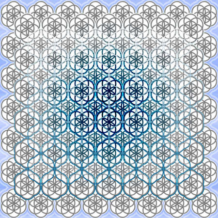 sacred trinity: The Flower of Life Sacred Geometry Art Background Pattern Perfect for Any Commercial or Spiritual Communication Stock Photo